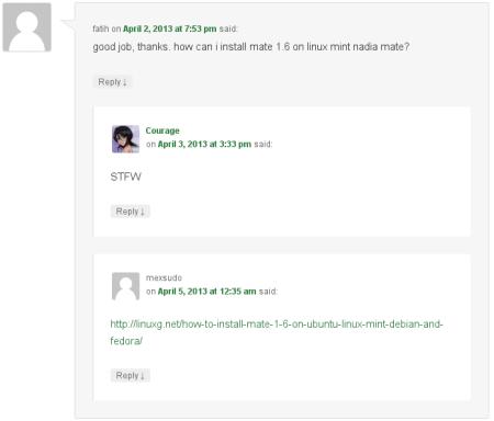 Linux snob example